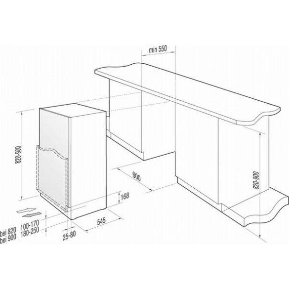 Gorenje RBIU 6134 W beépíthető hűtő - 3 ÉV GYÁRI GARANCIA