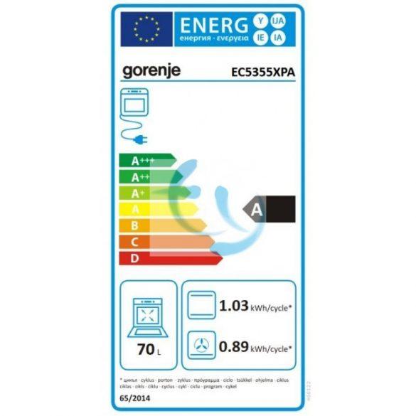 Gorenje EC5355XPA elektromos tűzhely, gyári garancia