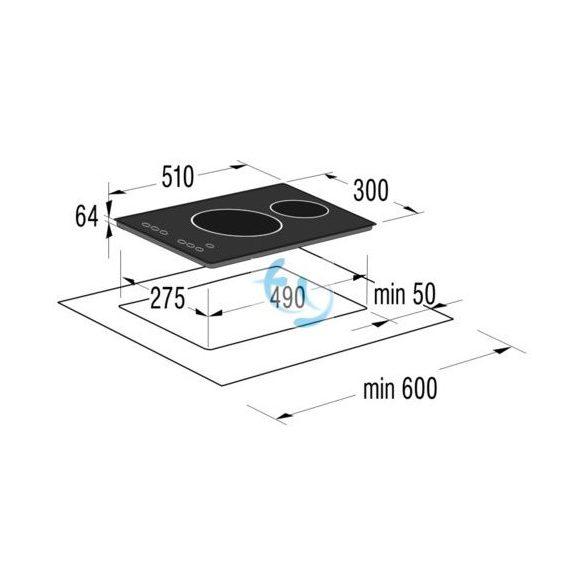 Gorenje ECT 330 AC - Dominó üvegkerámia főzőlap, 3 ÉV GYÁRI GARANCIA