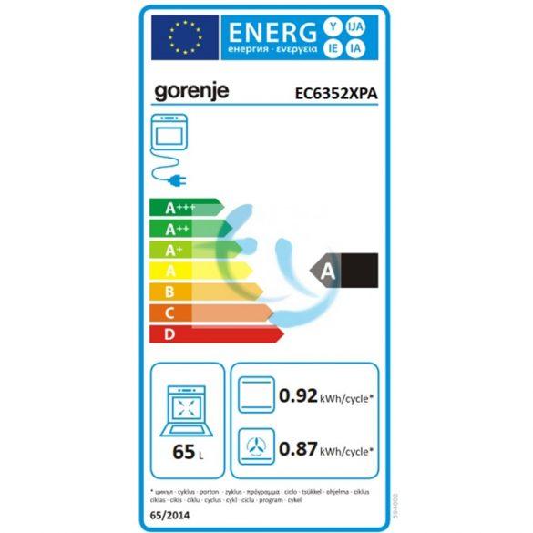 Gorenje EC6352XPA elektromos tűzhely, gyári garancia