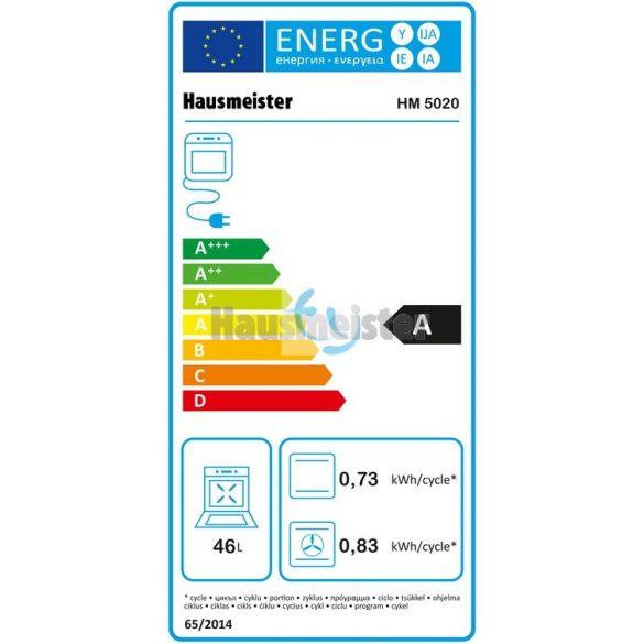 Hausmeister HM5020 kombinált tűzhely, 2 ÉV GARANCIA