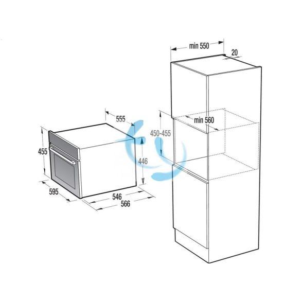 Gorenje BCS589S20X Beépíthető kompakt sütő és gőzpároló kombi, 3 ÉV GYÁRI GARANCIA