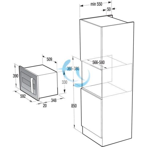 Gorenje BM 6250 ORA X Beépíthető mikrohullámú sütő, Ora Ito, 1 ÉV GARANCIA