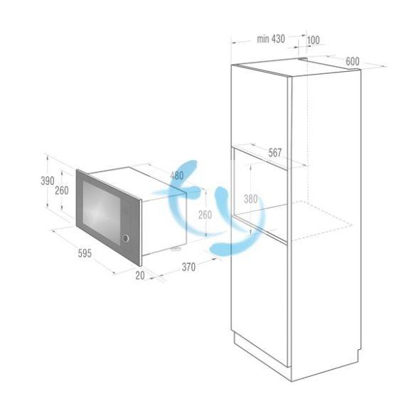 Gorenje  BM6240SY2W Beépíthető mikrohullámú sütő grillel, 1 ÉV GARANCIA