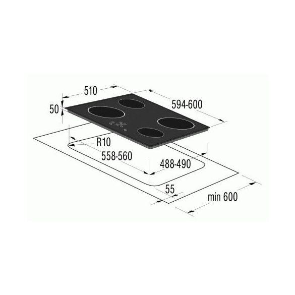 Gorenje ECT 640 SC üvegkerámia főzőlap, 3 ÉV GARANCIA