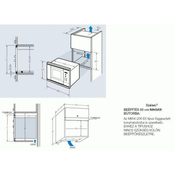 Fagor MW4 206 EX - beépíthető mikro - GYÁRI GARANCIA