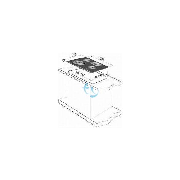 Gorenje ECT 680 ORA beépíthető kerámia főzőlap - 3 ÉV GARANCIA