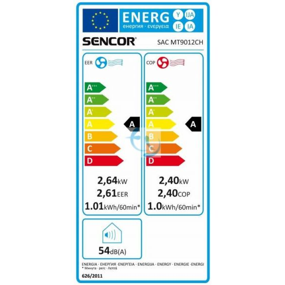 Sencor SAC MT9012CH, hűtő-fűtő mobilklíma, GYÁRI GARANCIA