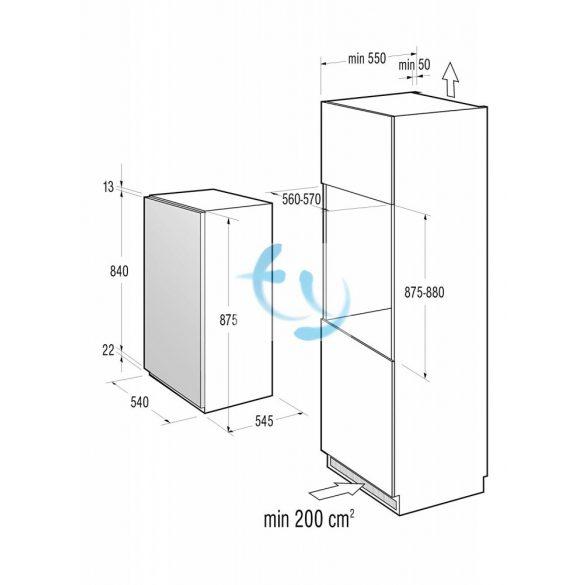 Gorenje RI4158W beépíthető hűtő, A+, 3 ÉV GARANCIA